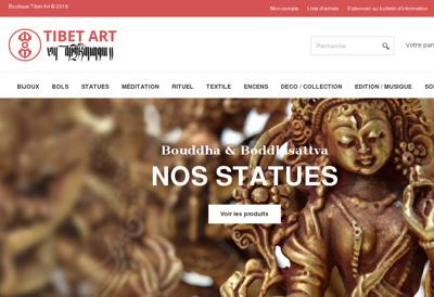 Capture d'écran du site de Tibet Art