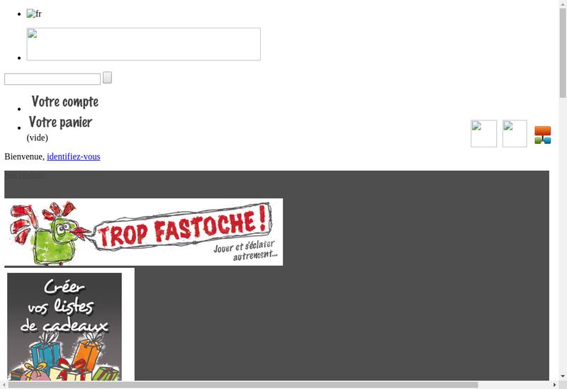 Capture d'écran du site de Trop Fastoche