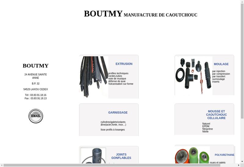 Capture d'écran du site de CMR
