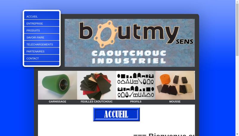 Capture d'écran du site de Boutmy Sens