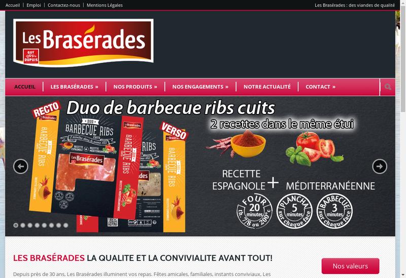 Capture d'écran du site de Les Braserades