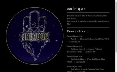 Site internet de Onirique