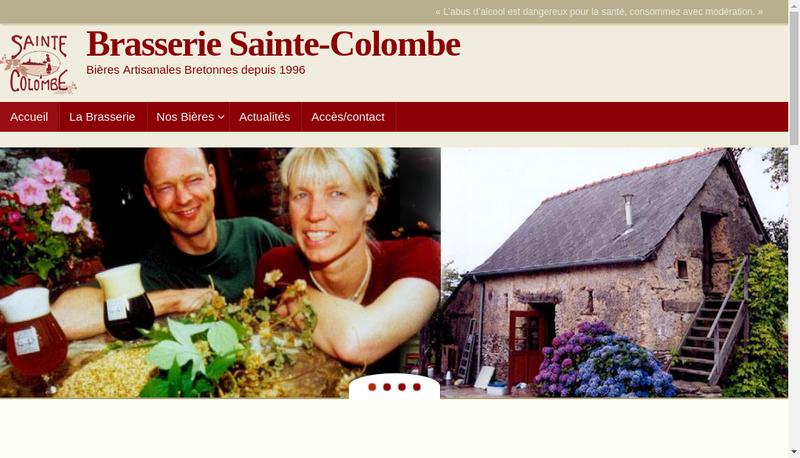 Capture d'écran du site de Brasserie Sainte Colombe
