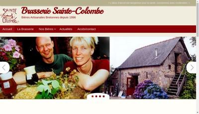 Site internet de Brasserie Sainte Colombe