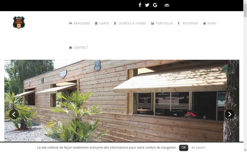 Site internet de Carte Blanche