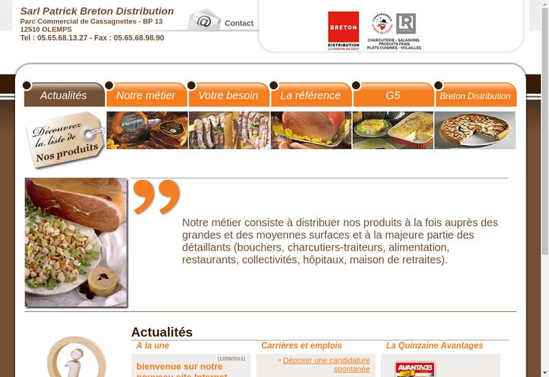 Capture d'écran du site de Trucks And Deliveries