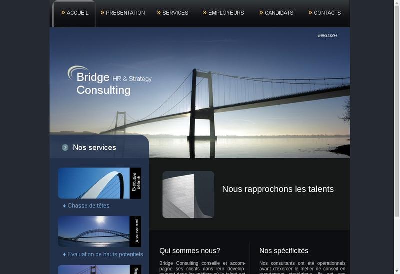 Capture d'écran du site de Bridge Consulting