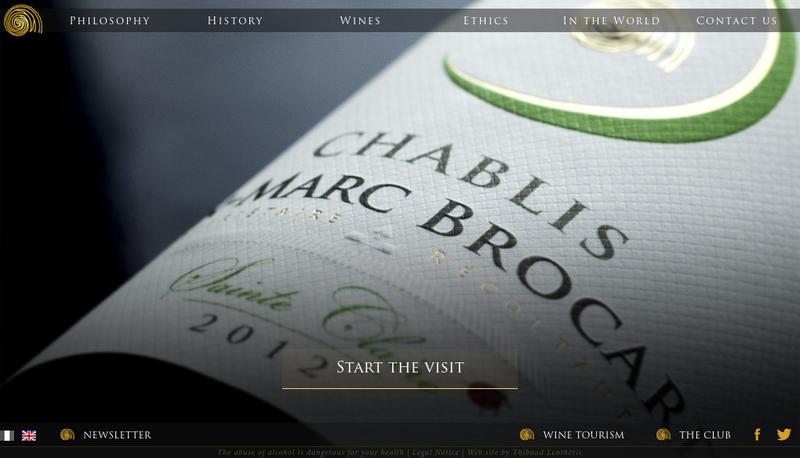 Capture d'écran du site de SAS Jean Marc Brocard