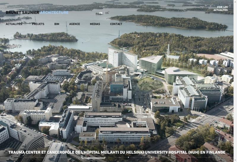 Capture d'écran du site de Brunet Saunier Architecture