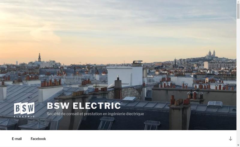 Capture d'écran du site de Bsw Electric