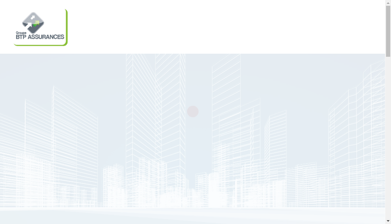 Capture d'écran du site de Btp Assurances