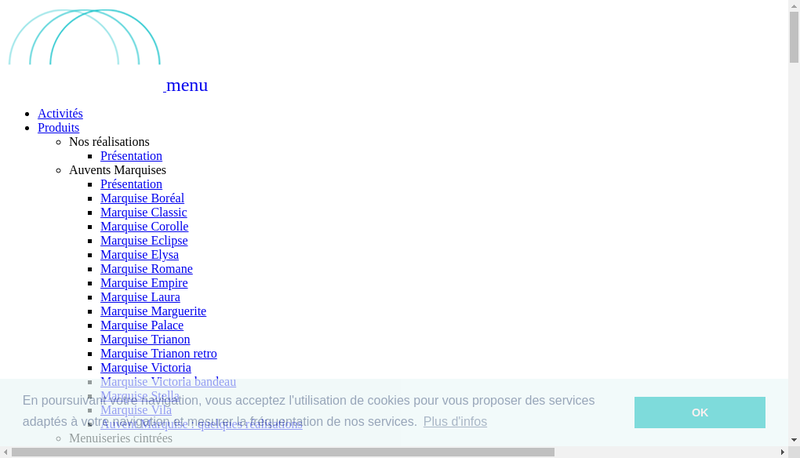 Capture d'écran du site de BVL Serrulac
