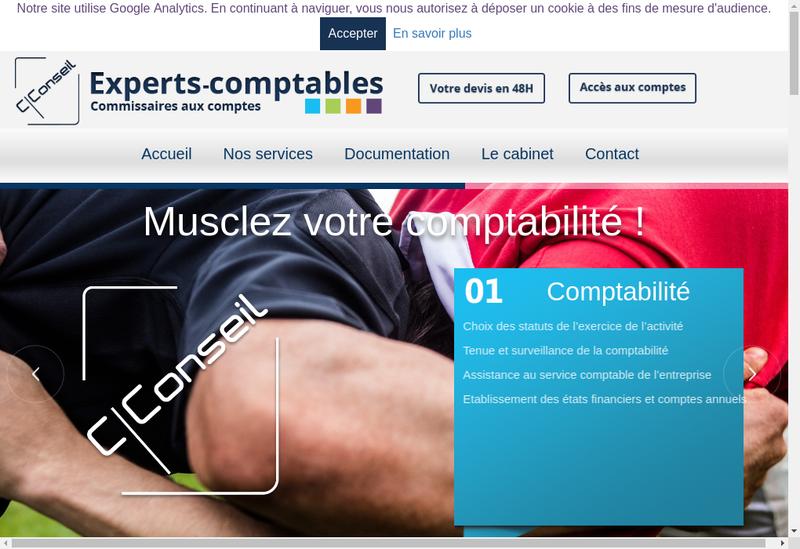 Capture d'écran du site de C Conseil
