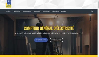 Site internet de Comptoir General d'Electricite