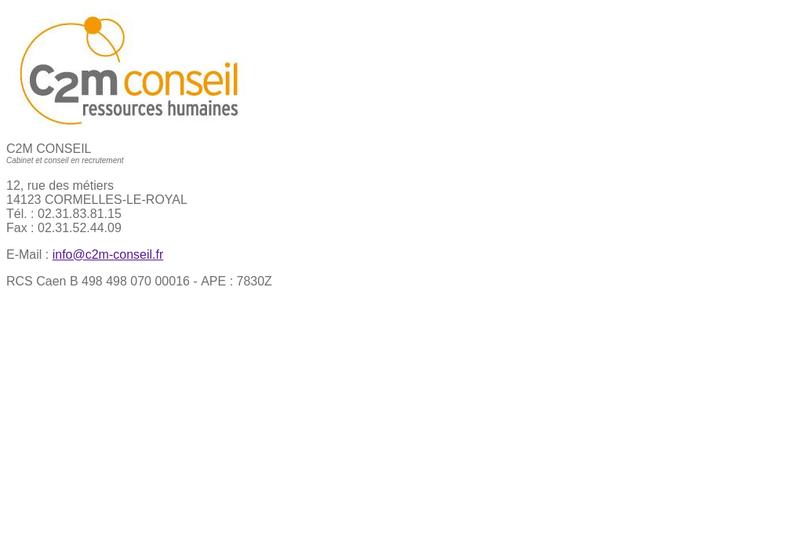 Capture d'écran du site de C2M Conseil