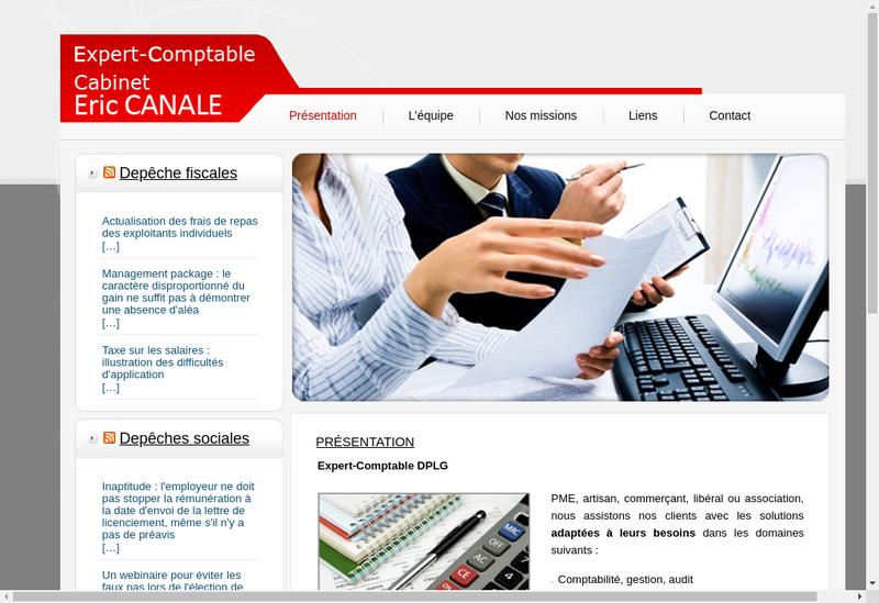 Capture d'écran du site de Accueil Administration Entreprises