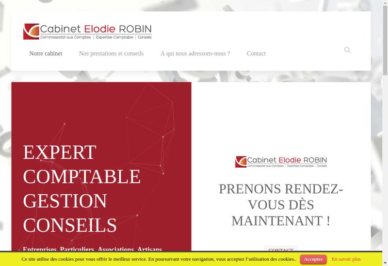 Capture d'écran du site de Cabinet Elodie Robin