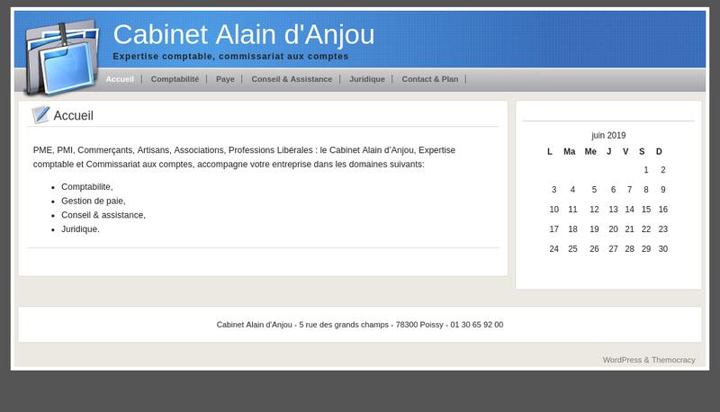 Capture d'écran du site de Alain D Anjou