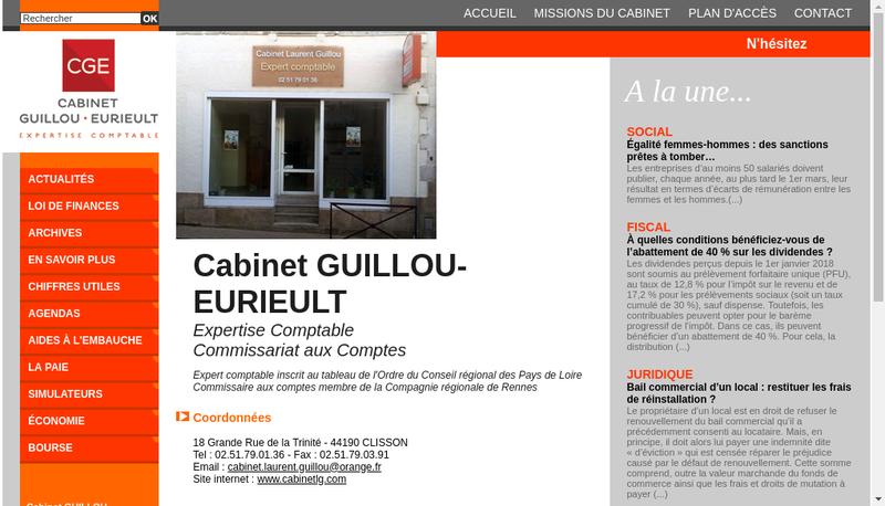 Capture d'écran du site de Exco Avec Clisson