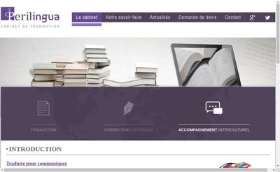 Site internet de Cabinet Perilingua