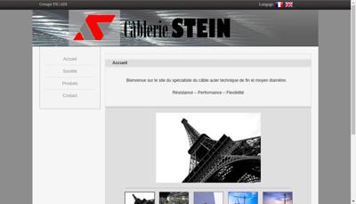 Capture d'écran du site de Cablerie Stein