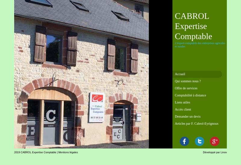 Capture d'écran du site de Cabrol Expertise Comptable
