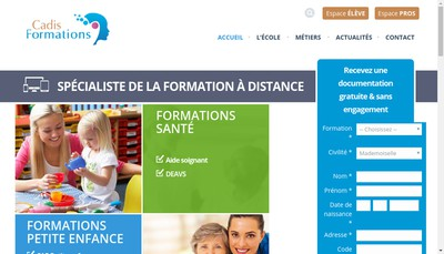 Site internet de Cadis Formations