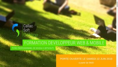 Site internet de Callac Soft College