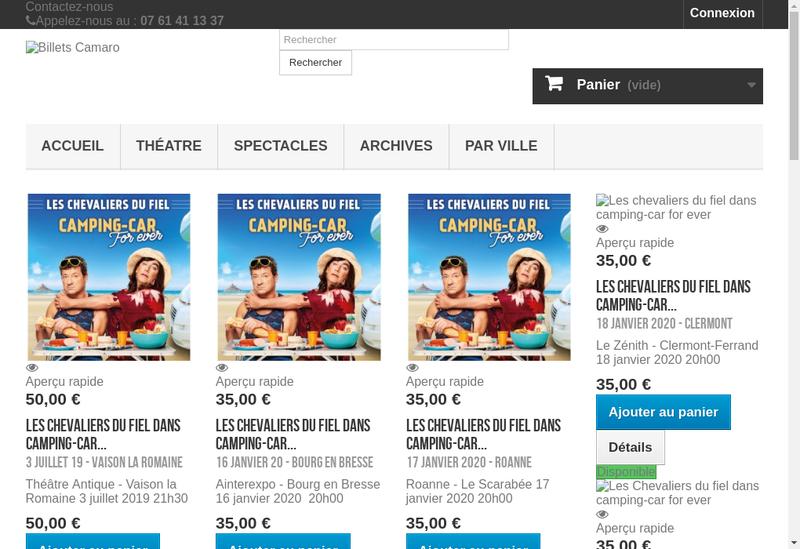Site internet de Camaro Productions