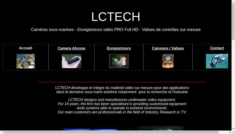 Capture d'écran du site de LC Tech