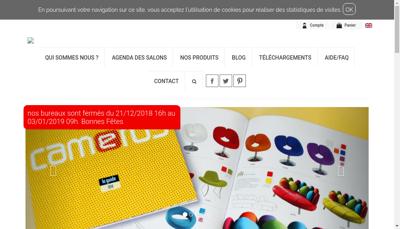 Capture d'écran du site de Camerus