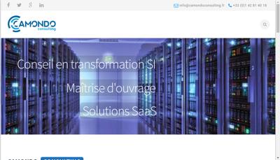Capture d'écran du site de Camondo Consulting
