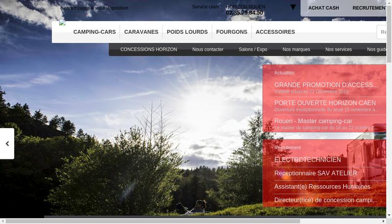 Capture d'écran du site de Camping Cars Pierre