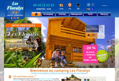 Capture d'écran du site de Les Floralys