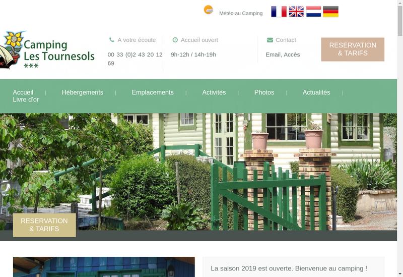 Capture d'écran du site de EARL les Tournesols