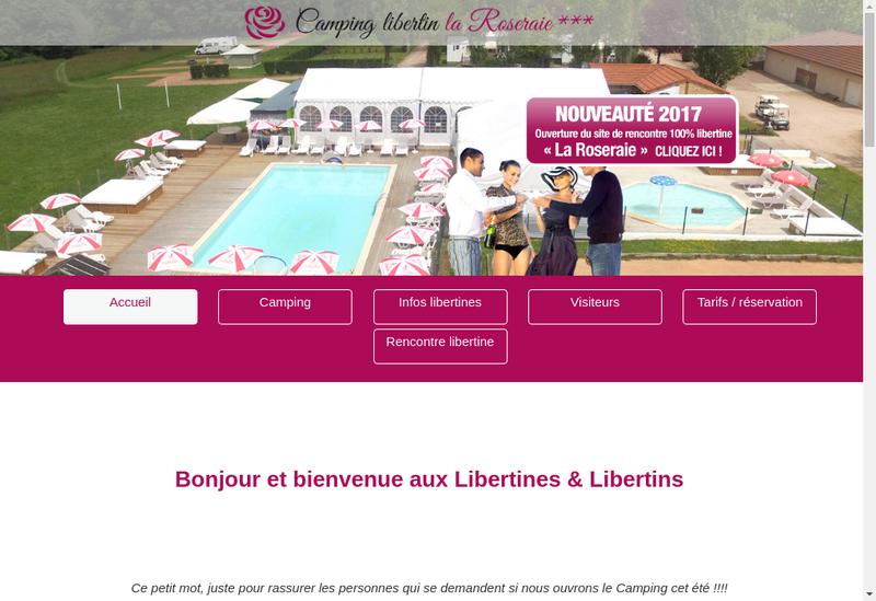 Capture d'écran du site de De la Roseraie