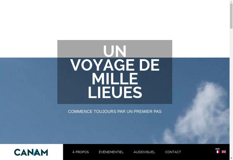 Capture d'écran du site de Canam Production