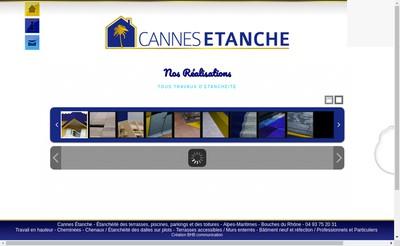 Site internet de Cannes Etanche