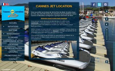 Site internet de Cannes Jet Location
