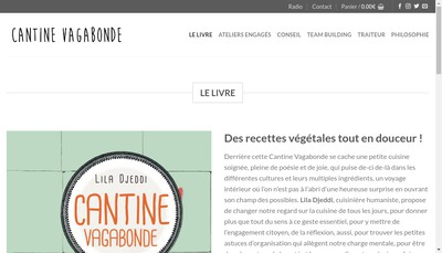 Site internet de Cantine Vagabonde