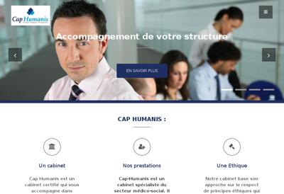 Capture d'écran du site de Cap Humanis