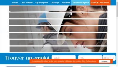 Capture d'écran du site de Cap Inter