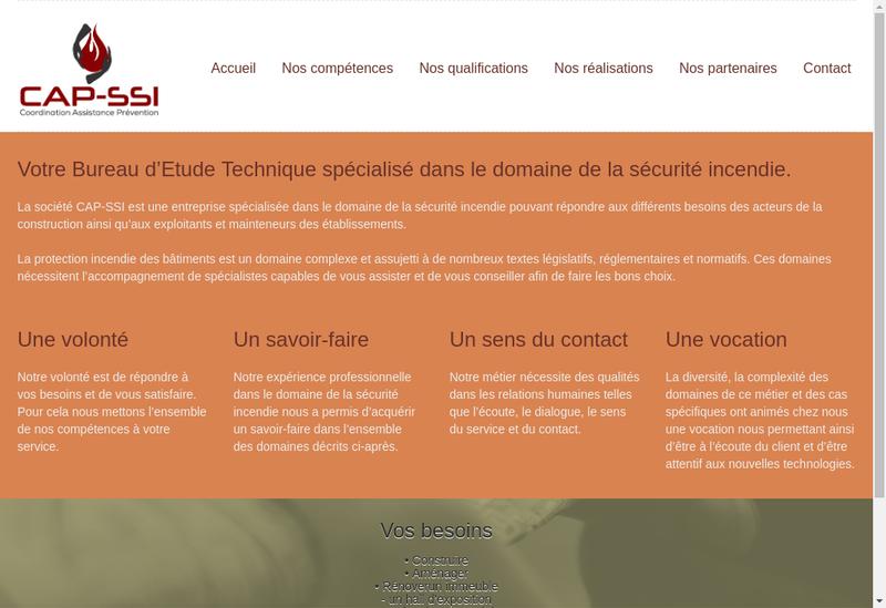Capture d'écran du site de Capssi