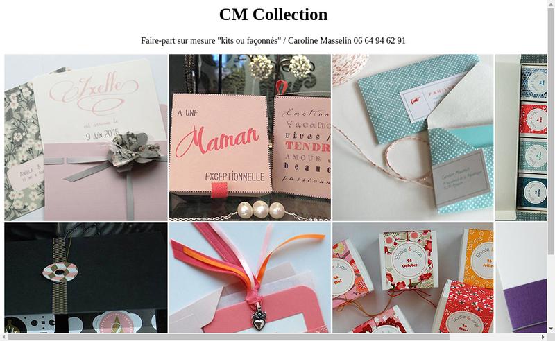 Capture d'écran du site de Cm Collection