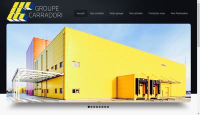 Capture d'écran du site de SARL Carradori Pb TP