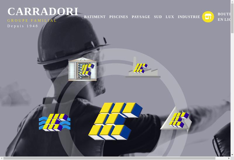 Capture d'écran du site de Carradori Industrie