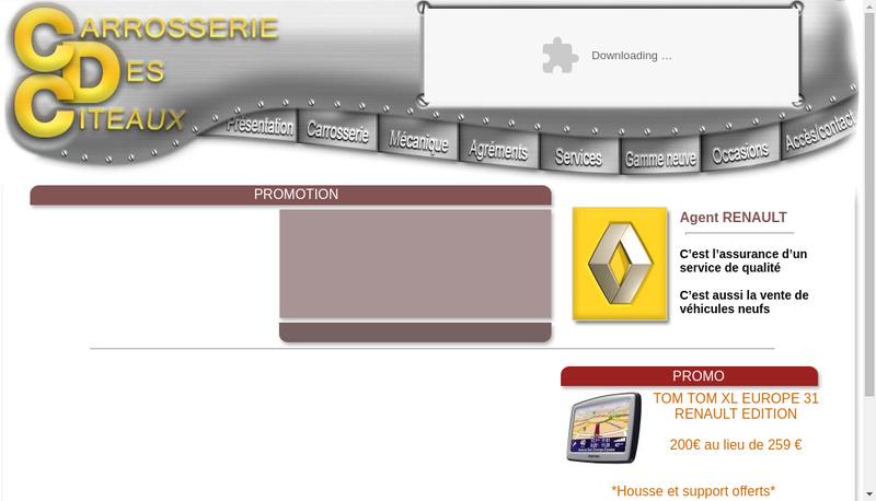 Capture d'écran du site de Garage des Citeaux
