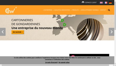 Site internet de Cartonneries de Gondardennes