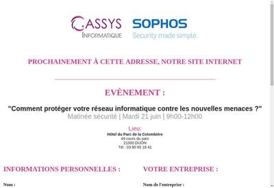Site internet de Cassys Informatique