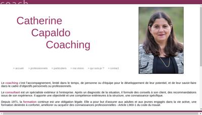Capture d'écran du site de Catherine Capaldo